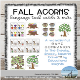FALL ACORNS Language Task Cards & Game Companion