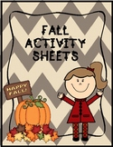 FALL ACTIVITY SHEETS