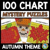 FALL ACTIVITY KINDERGARTEN (100 CHART MYSTERY PICTURE PUZZLES)