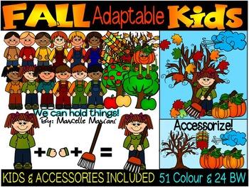 FALL KIDS CLIPART- FALL CLIP ART