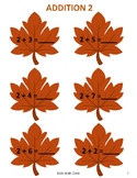 THANKSGIVING FALL ADDITION WORKSHEETS A (12 Worksheets)