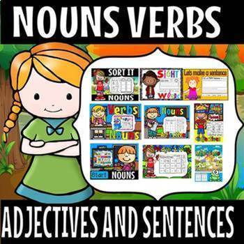 NOUNS VERBS ADJECTIVES AND SENTENCES(50% off for 48 hours)