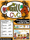 FALL-AUTUMN- CVC Center Activity- Build it, Stamp it, Write it (COLOR+BW)
