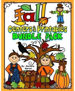 FALL Literacy and Math worksheets and activities- MEGA BUNDLE