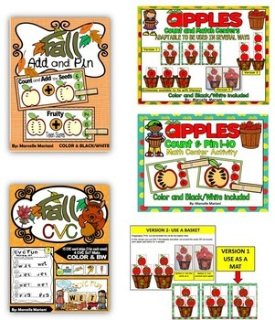 FALL Literacy and Math worksheets and activities- MEGA BUNDLE