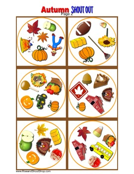 FALL AUTUMN SHOUT OUT; vocabulary; Spot the Match Game;