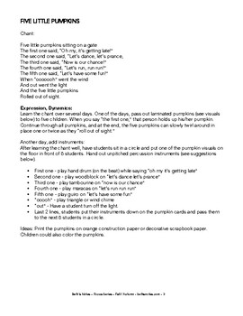 FALL/AUTUMN: Songs, Lessons & Printables