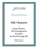 Fall / Autumn: Songs, Lessons & Printables