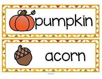 FALL AUTUMN Vocabulary Center & Group Activities for Preschool & Kindergarten