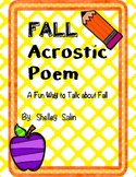 FALL Acrostic Poem (In Black & White and Color)  FREE!!