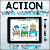 Winter Action Verb Vocabulary  | BOOM CARDS™