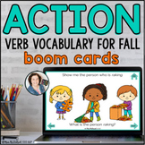 FALL Action Verb Vocabulary  | Distance Learning BOOM CARDS™
