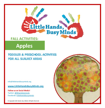 FALL Activities: Apples Weekly Thematic Unit for Toddlers & Preschoolers