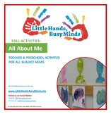 FALL Activities: COMPLETE All About Me Weekly Thematic Unit for Toddlers & PreK