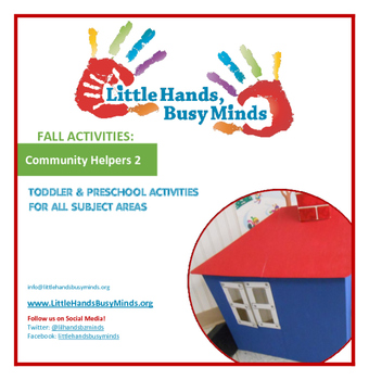 FALL Activities: Community Helpers 2 Weekly Thematic Unit for Toddlers & PreK