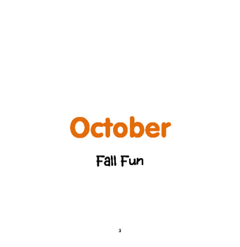 FALL Activities : Fall Fun: Monthly Thematic Unit