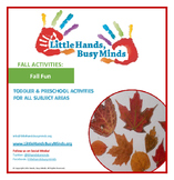 FALL Activities: Fall Fun Weekly Thematic Unit for Toddler