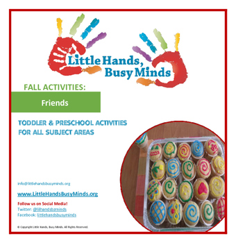 FALL Activities: Friends Weekly Thematic Unit for Toddlers & PreK