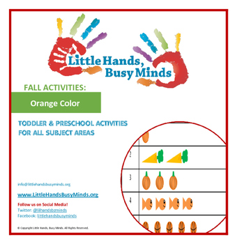 FALL Activities: Orange Color Weekly Thematic Unit for Toddlers & PreK