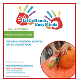 FALL Activities:Pumpkins & Circle Shape Weekly Thematic Un