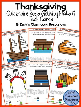 THANKSGIVING Activity Mats & Task Cards BUNDLE