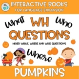 FALL Adapted Book PUMPKINS Answering WH Questions Speech L