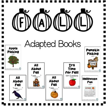 FALL Adapted Books (sped/autism/elementary/middle)