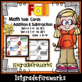 FALL Addition and Subtraction TASK CARDS