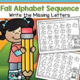 FALL Alphabet Sequence – Write the Missing Letters Upper and Lower Case