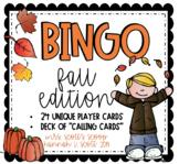 FALL BINGO (24 Cards & Calling Cards)