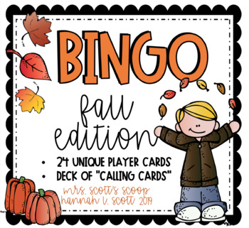 FALL BINGO (24 Cards & Calling Cards)