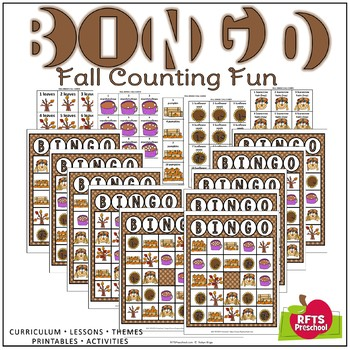image about Fall Bingo Printable called Drop BINGO COUNTING Sport