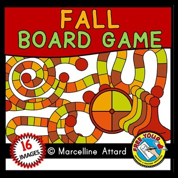 AUTUMN GAME BOARD CLIPART: BUILD A GAME CLIPART: FALL CLIPART: AUTUMN CLIPART