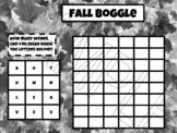 FALL BOGGLE PRINTABLE (B/W)