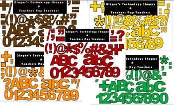 FALL BUNDLE! * Bulletin Board Letters * Punc * Numbers * Symbols *