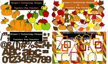 COMPLETE FALL BUNDLE! Clipart & Characters! Alphabet, Numbers! MORE!