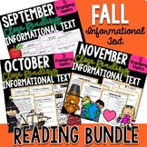 FALL BUNDLE! - Close Reading Informational Text, Comprehension, and More!