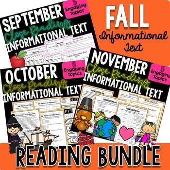 FALL BUNDLE! - Close Reading Informational Text, Comprehen