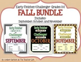 FALL BUNDLE: Early Finisher or Challenger Grades 3-6