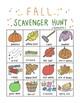 FALL BUNDLE: Scavenger Hunt, Bingo, & Tic-Tac-Toe Printables