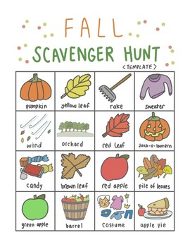 photograph about Fall Scavenger Hunt Printable titled Slide Package: Scavenger Hunt, Bingo, Tic-Tac-Toe Printables