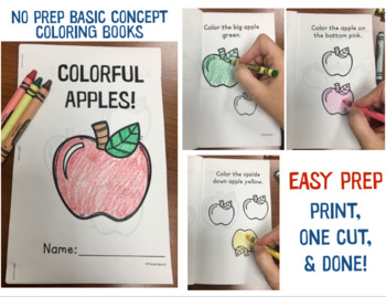 FALL Basic Concepts Coloring Books: NO PREP!