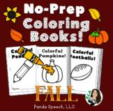 FALL Basic Concepts Coloring Books: NO PREP!