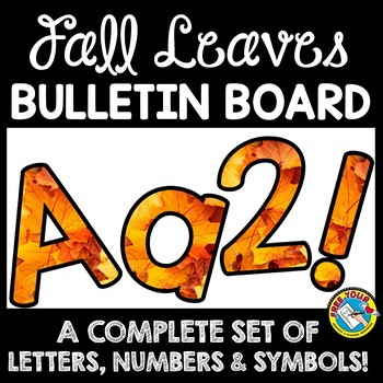 FALL CLASSROOM DECORATION (FALL BULLETIN BOARD LETTERS PRINTABLE)