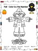 FALL Activities - Color by the Number - Math Worksheets