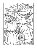 FALL COLORING, BUNDLE 24 PAGES, FALL ACTIVITIES, FALL WORK