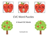 FALL CVC PUZZLE/Sort - A VOWEL (AT, AN, AD, AM, AP, AB word families)
