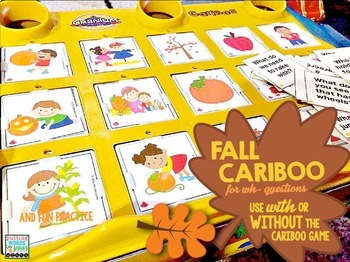 FALL Cariboo Cards for WH- questions {plus teaching materials}
