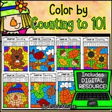 FALL - Color by COUNTING TO 10 {Includes Digital Resource}