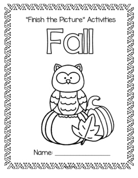 FALL Language, Counting and Drawing Book Preschool